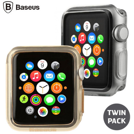 Baseus Apple Watch 2 / 1 Transparent Shell Case - 38mm - Twin Pack