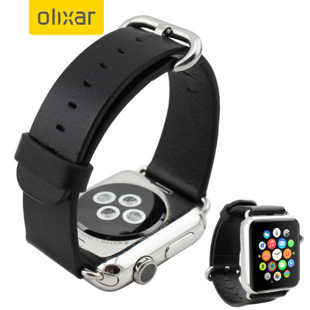 Olixar Genuine Leather Apple Watch Series 2 / 1 Strap - 42mm - Black