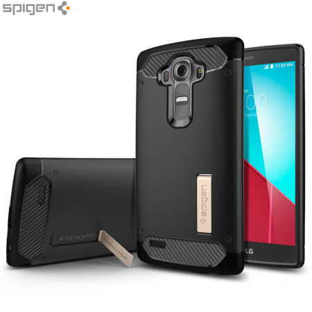 Spigen Rugged Armor LG G4 Tough Case - Black
