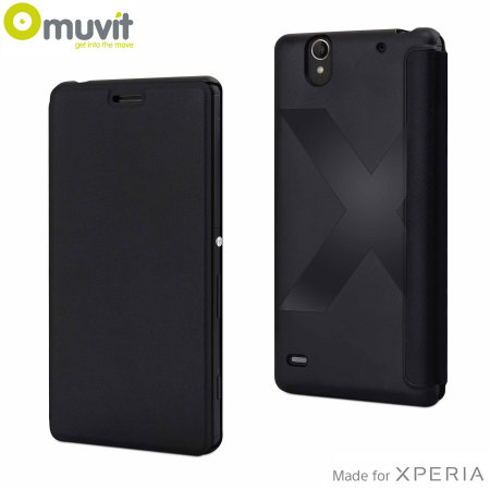Muvit Easy Folio Leather-Style Sony Xperia C4 Case - Black