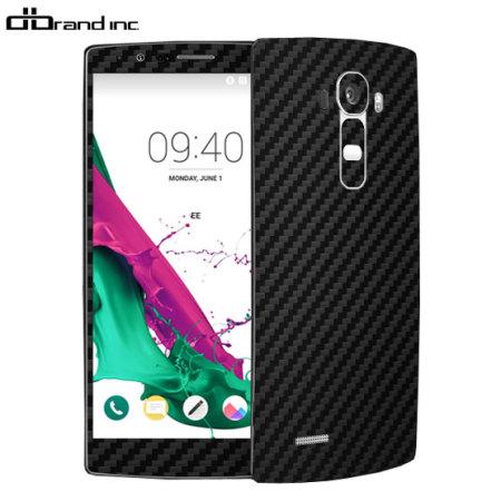 dbrand LG G4 Carbon Fibre Skin - Black