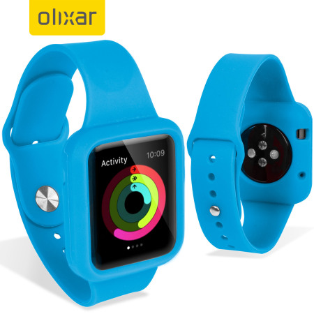 Olixar Silicone Apple Watch 2 / 1 Sport Strap with Case - 38mm - Blue