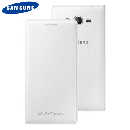 Official Samsung Galaxy Grand Prime Flip Wallet Cover - White