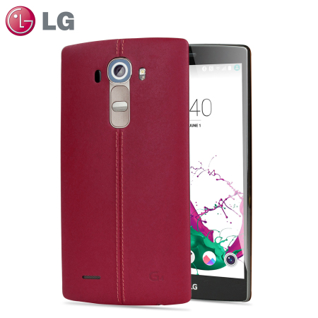 LG G4 Burgundy Red Leather Replacement Back Cover