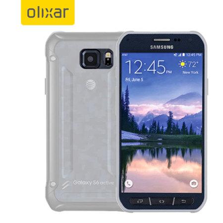 Olixar FlexiShield Samsung Galaxy S6 Active Gel Case - Frost White