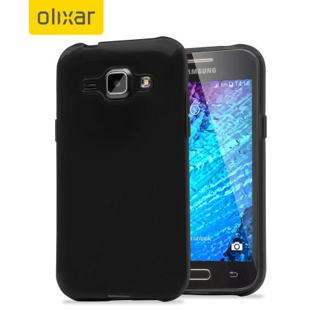 FlexiShield Samsung Galaxy J1 2015 Gel Case - Black