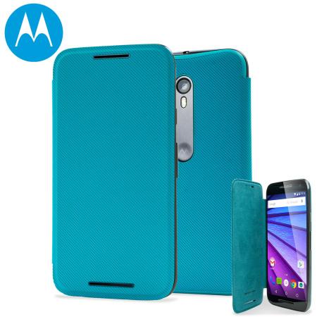 san francisco ea519 657c1 Official Motorola Moto G 3rd Gen Flip Shell Cover - Turquoise