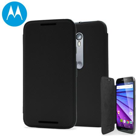 the latest 60a2b 02500 Official Motorola Moto G 3rd Gen Flip Shell Cover - Black