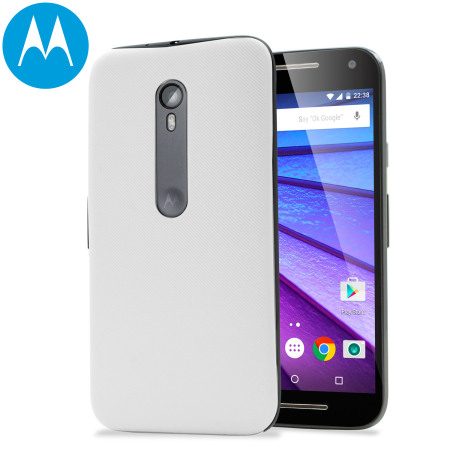 size 40 3f42d 1c47e Official Motorola Moto G 3rd Gen Shell Replacement Back Cover - White