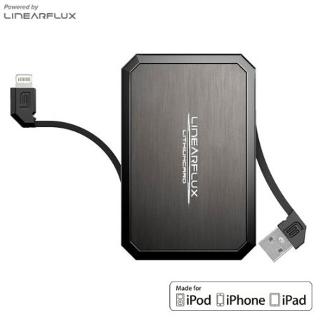 Linearflux LithiumCard Pro Portable Lightning Power Bank - Titanium