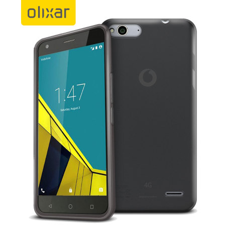 FlexiShield Vodafone Smart Ultra 6 Gel Case - Smoke Black