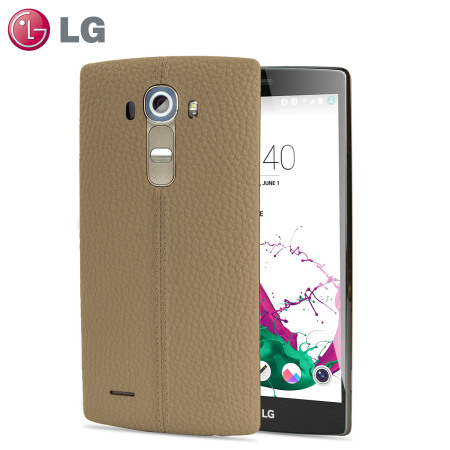 size 40 06a0b c3b7f LG G4 Beige Leather Replacement Back Cover