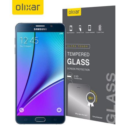 Protector de Pantalla Samsung Galaxy Note 5 Olixar Cristal Templado