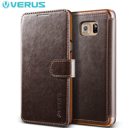 Verus Dandy Leather-Style Samsung Galaxy Note 5 Wallet Case - Brown