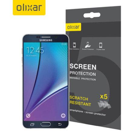Olixar Samsung Galaxy Note 5 Screen Protector 5-in-1 Pack