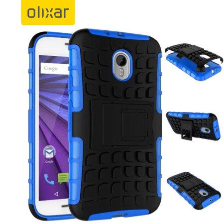 Olixar ArmourDillo Motorola Moto G 3rd Gen Protective Case - Blue