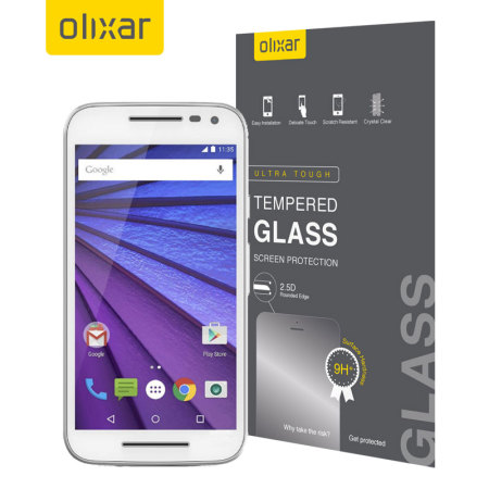 Olixar Moto G 3rd Gen Tempered Glass Screen Protector