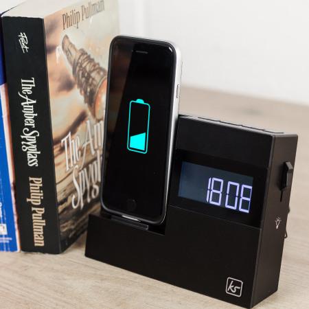 kitsound x dock 3 iphone 7 plus 7 6s 6 clock radio speaker dock. Black Bedroom Furniture Sets. Home Design Ideas