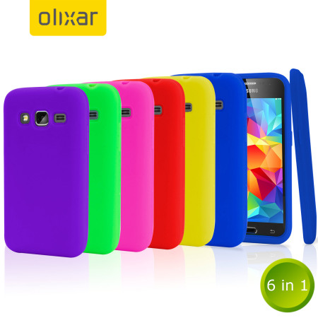 new arrival 1b286 bdc39 Olixar 6-in-1 Silicone Samsung Galaxy Core Prime Case Pack