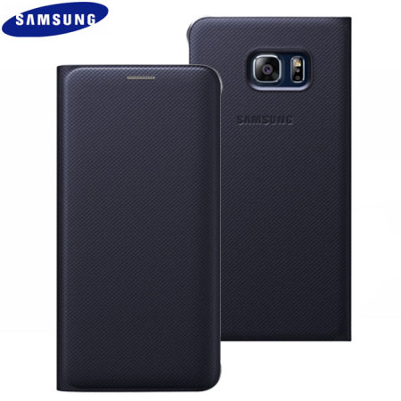 Official Samsung Galaxy S6 Edge Plus Flip Wallet Cover - Blue / Black