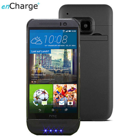 release date: f0d2c d73b4 enCharge Power Jacket HTC One M9 Battery Case 3200mAh - Black