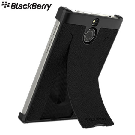 Official BlackBerry Passport Silver Edition Leather Flex Shell Case