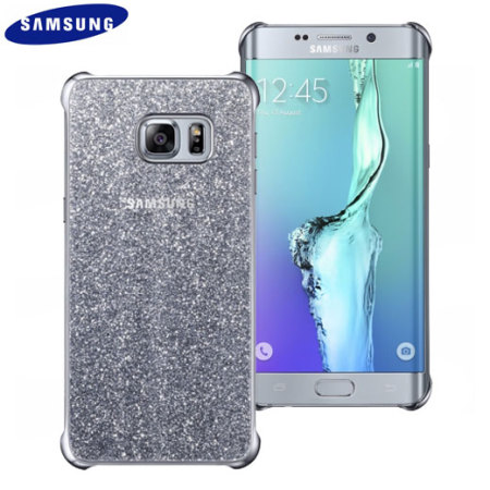 official samsung galaxy s6 edge plus glitter cover case silver