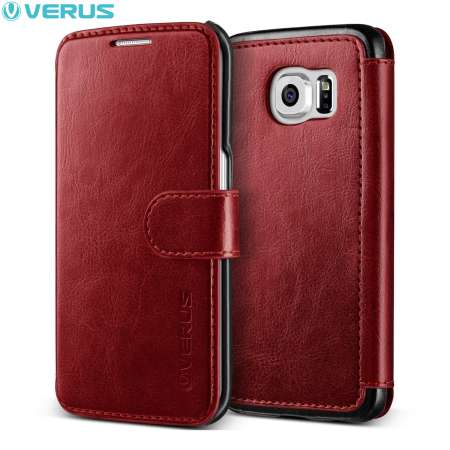 Verus Dandy Leather-Style Samsung Galaxy S6 Edge Wallet Case - Red