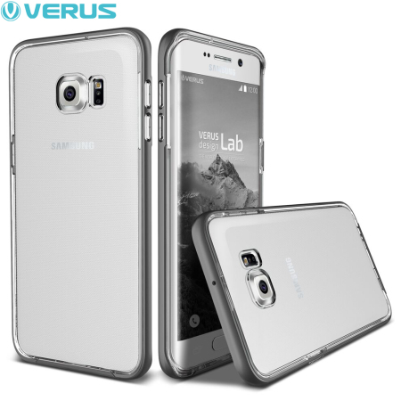 Verus Crystal Bumper Samsung Galaxy S6 Edge Plus Case - Steel Silver