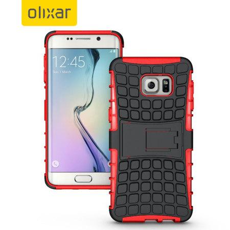 Olixar ArmourDillo Samsung Galaxy S6 Edge Plus Protective Case - Red