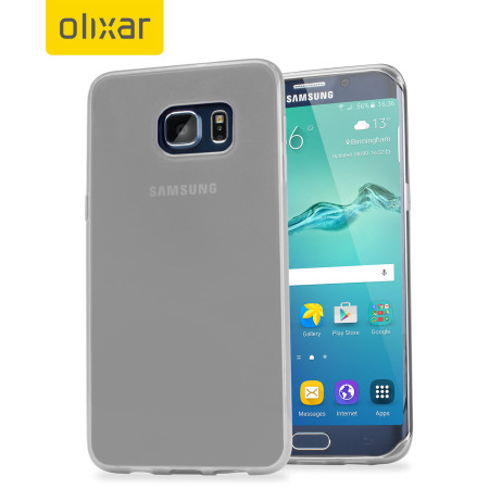FlexiShield Samsung Galaxy S6 Edge Plus Gel Case - Frost White