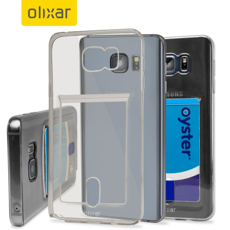 Olixar FlexiShield Slot Samsung Galaxy Note 5 Gel Case - Grey Tint