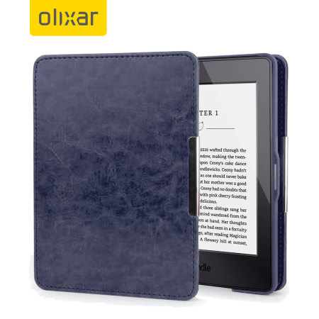 olixar kindle paperwhite case tasche in navy. Black Bedroom Furniture Sets. Home Design Ideas