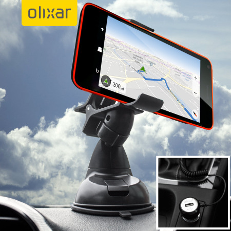 Olixar DriveTime Microsoft Lumia 640 Car Holder & Charger Pack