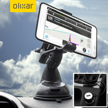olixar drivetime samsung galaxy a5 car holder charger pack. Black Bedroom Furniture Sets. Home Design Ideas