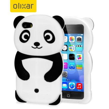 pretty nice 5aa54 95612 Olixar 3D Panda iPhone 5S / 5 Silicone Case - Black / White