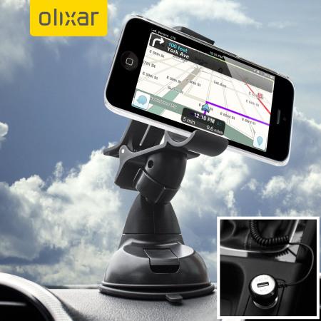 Olixar DriveTime iPhone 5C Car Holder & Charger Pack
