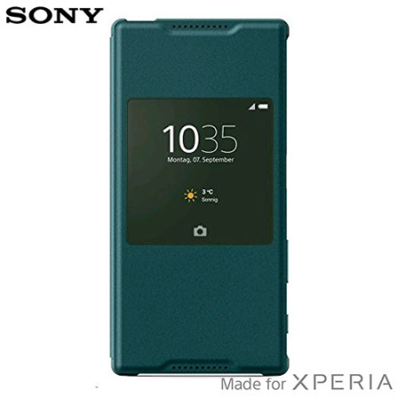 online store f7fc8 f8638 Official Sony Xperia Z5 Style Cover Smart Window Case - Green