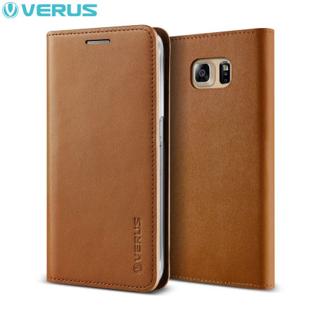 Verus Samsung Galaxy S6 Edge Plus Genuine Leather Wallet Case - Brown