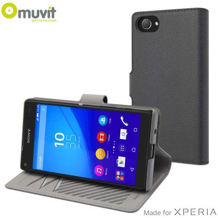 Muvit Slim S Folio MFX Sony Xperia Z5 Compact Case - Silver Grey