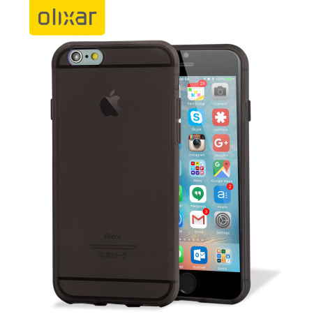 flexishield iphone 6s plus case h lle in smoke black. Black Bedroom Furniture Sets. Home Design Ideas