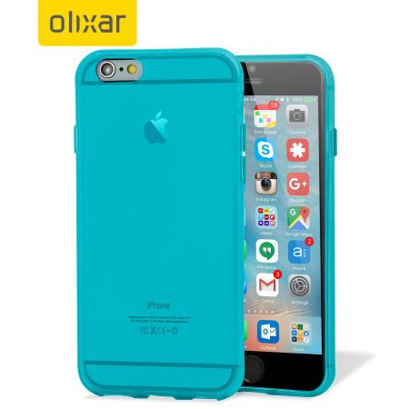 rollie flexishield iphone 6s plus gel case light blue will make