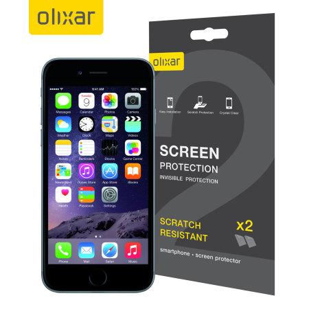 Olixar iPhone 6S  TPU Film Screen Protector 2-in-1 Pack