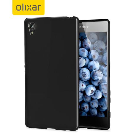 FlexiShield Sony Xperia Z5 Premium Case - Solid Black