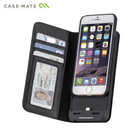 reputable site 2b514 a8390 Case-Mate Leather Wallet iPhone 6S/6 Charging Case - Black