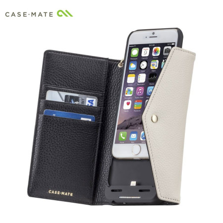 iphone 6 charging case mate leather wallet iphone 6s 6 charging black 1398