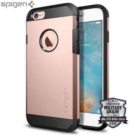 Coque iPhone 6S Spigen Tough Armor - Or Rose