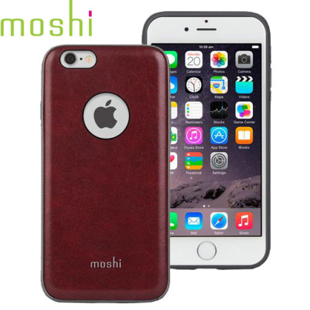 wholesale dealer 42d10 9f7e2 Moshi iGlaze Napa iPhone 6S / 6 Vegan Leather Case - Red