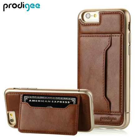 Prodigee Trim Tour iPhone 6 Eco-Leather Wallet Case - Brown