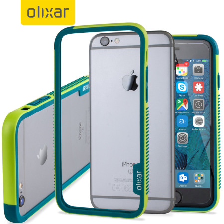online retailer 10b80 a33a0 iPhone 6S Bumper Case - Olixar FlexiFrame Green